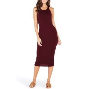 Michael Stars Burgundy Racerback Midi Dress Size M